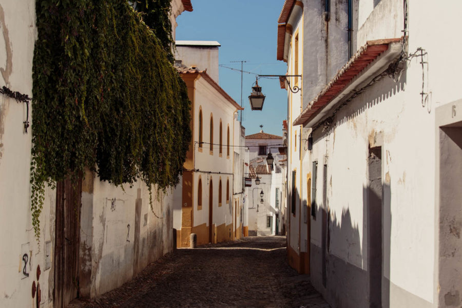 Traditional Street near Heaven Inn Évora Hostel